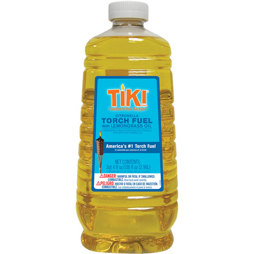 TIKI Citronella Torch Fuel with LemonGrass Oil, 100 oz