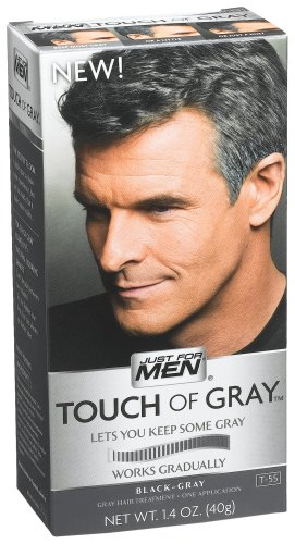 Just For Men Touch of Gray Black-Gray Hair Treatment, 1.4 oz