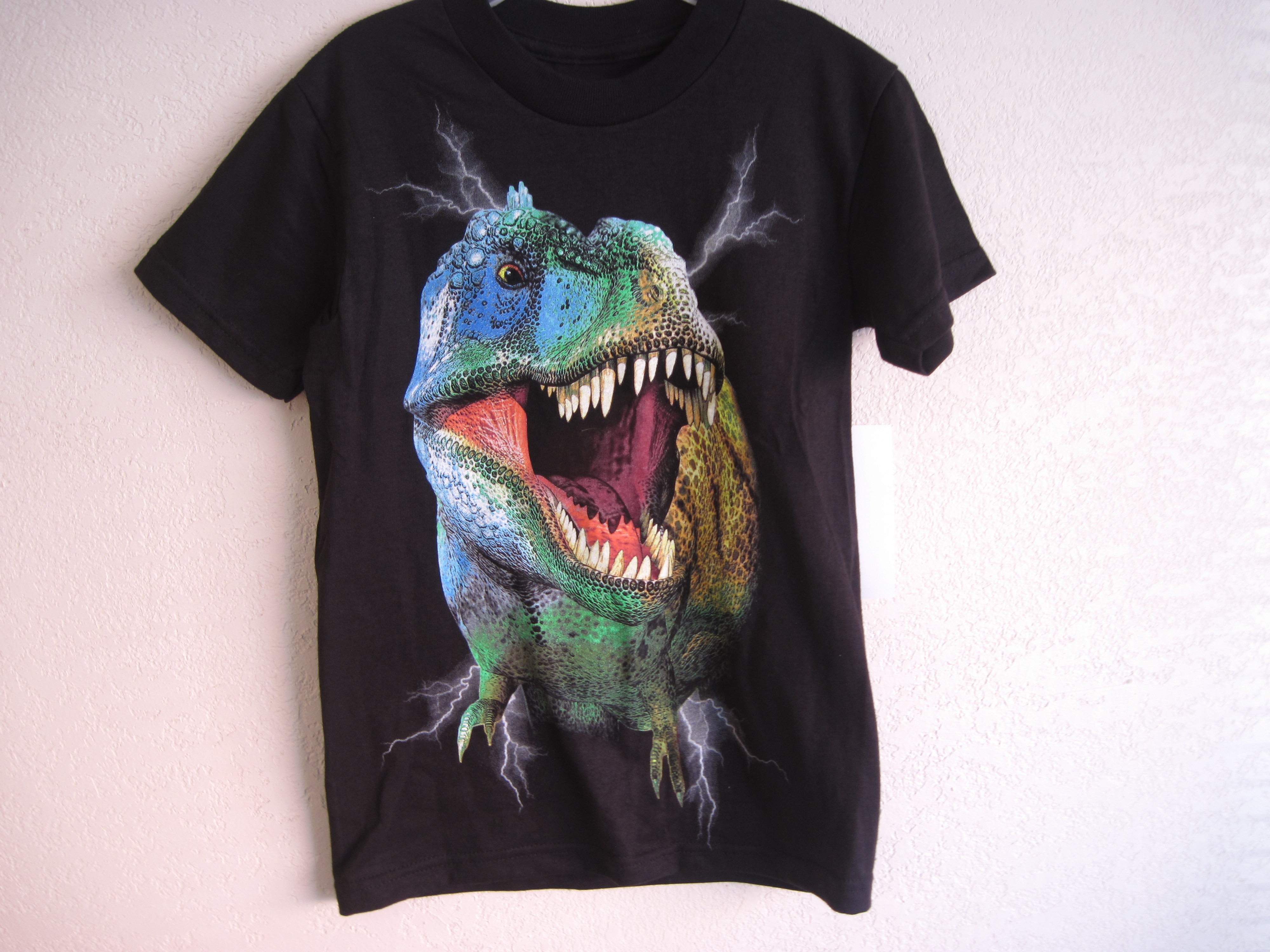 Hudson Creek Sz M 7 T-Rex T-Shirt (black)