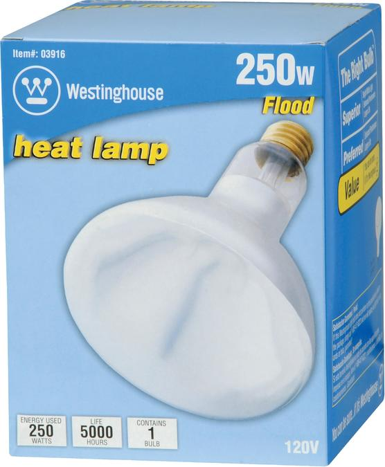Westinghouse 250w flood / heat lamp