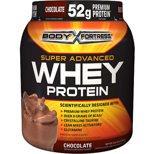 Body Fortress Super Advanced Whey Protein Powder Chocolate, 2 lb