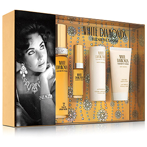 Elizabeth Taylor White Diamonds Fragrance Gift Set for Women, 4