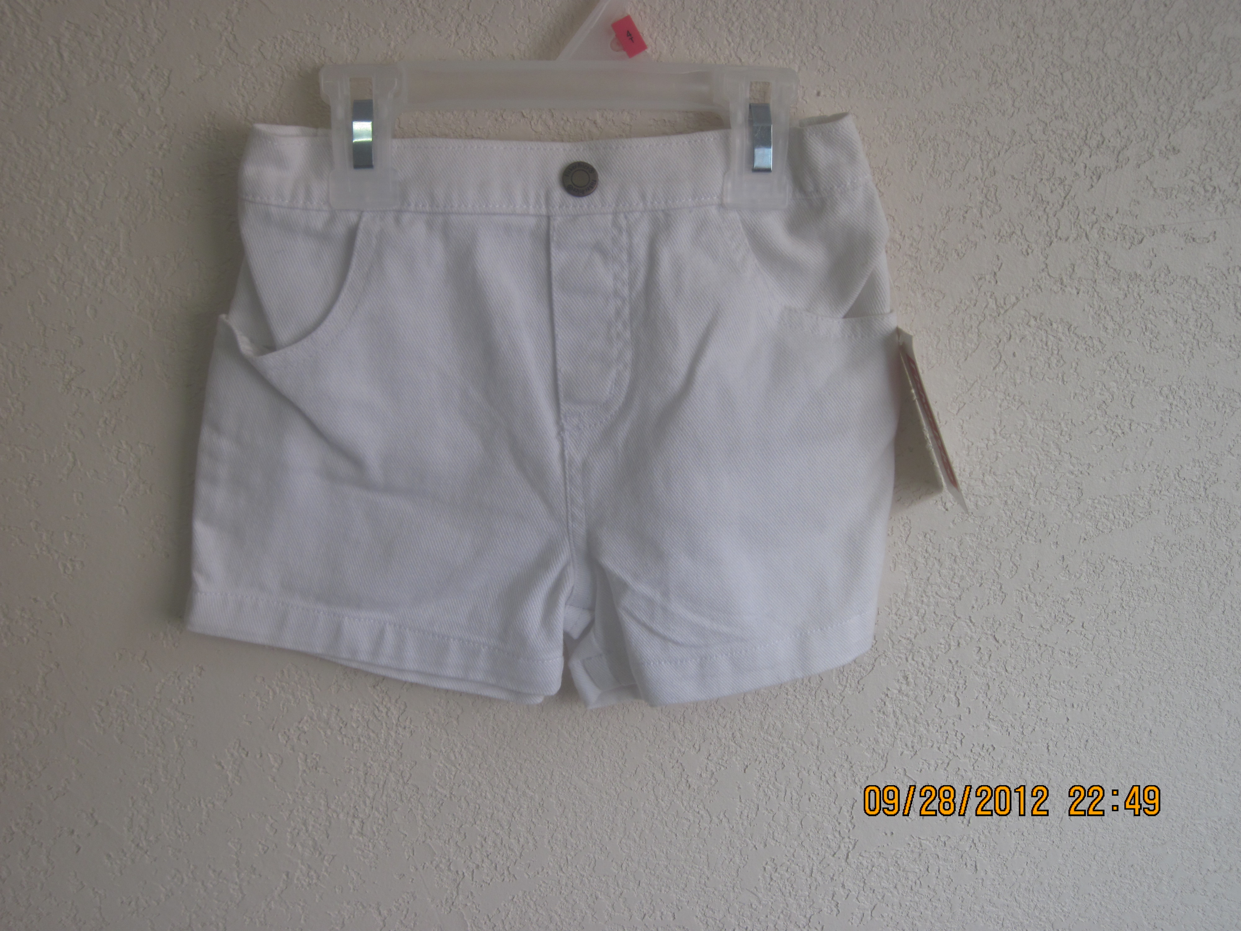 Fisher-Price SZ18 Months White Jean Shorts