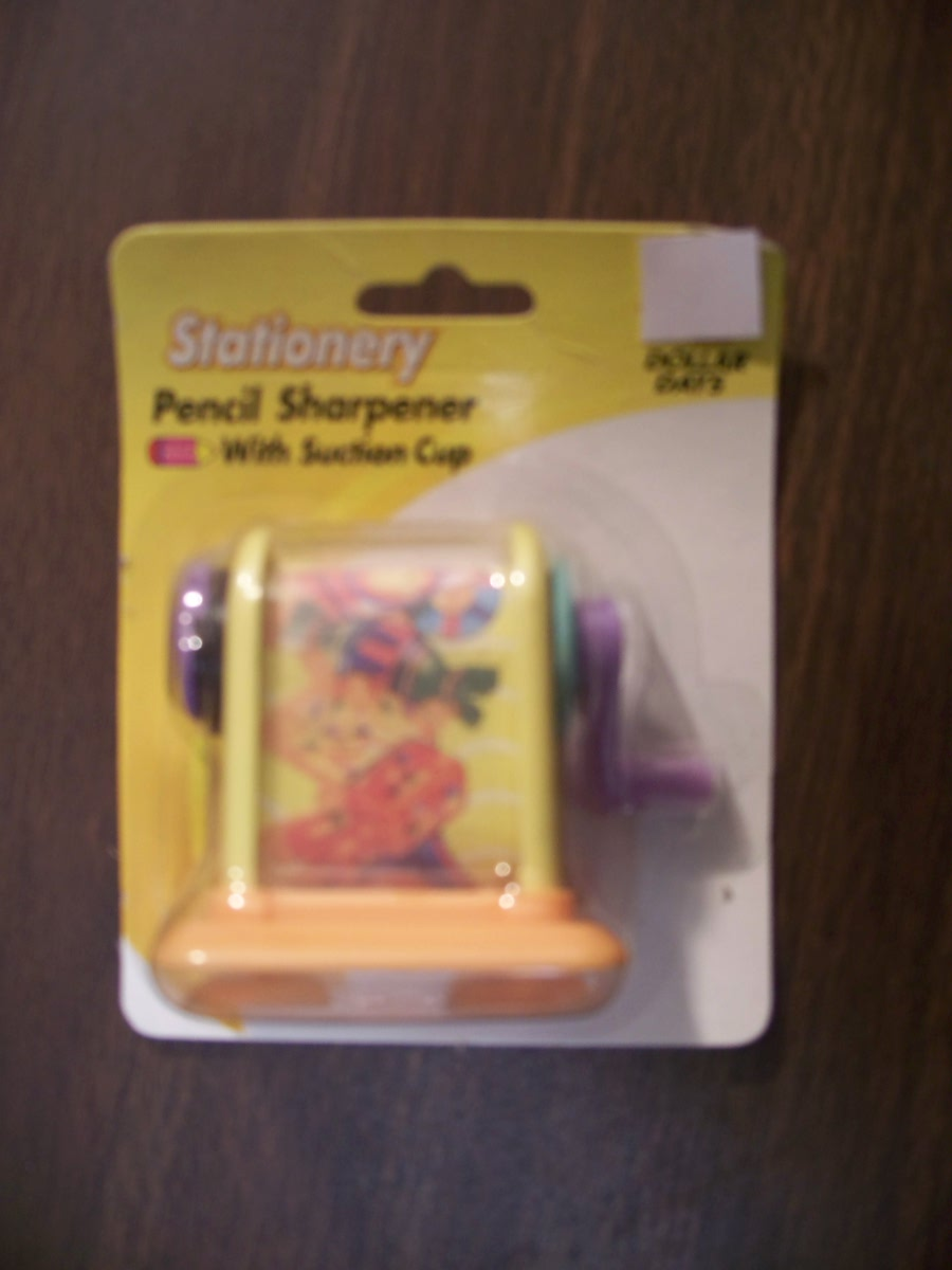 Pencil Sharpener with Suction Cup(Yellow&Orange)