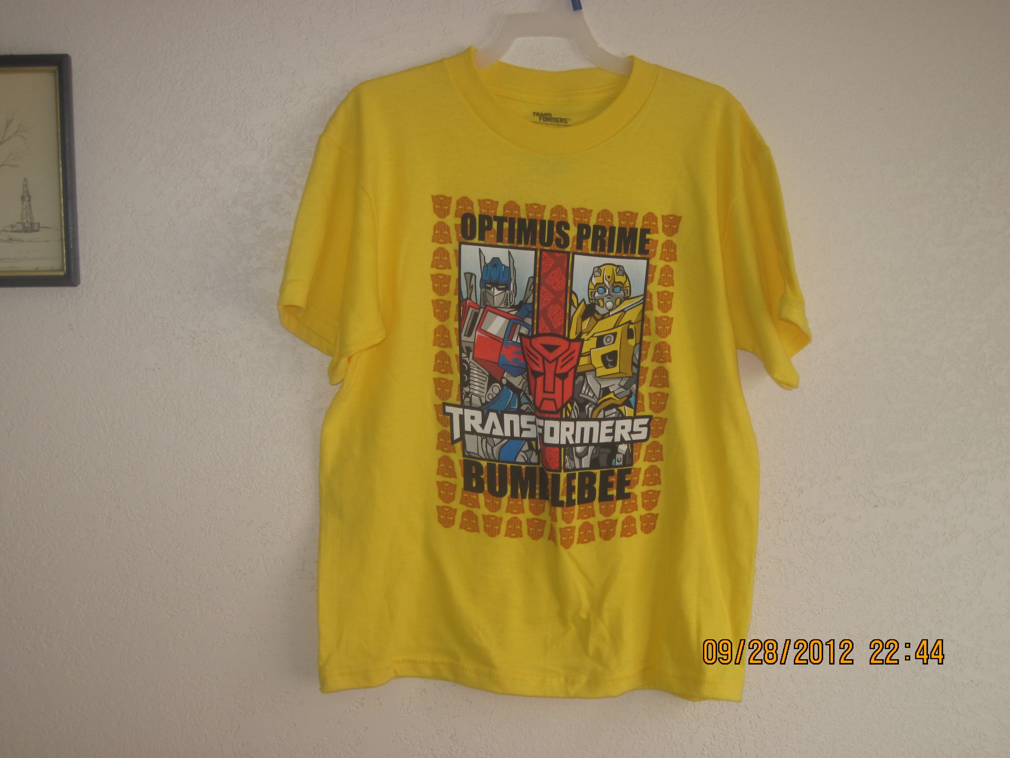 Transformers T-Shirt Sz 5/6 Yellow