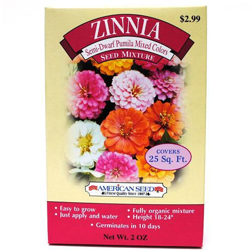 Zinnia Seed Mix 2oz Carton American Seed Co.